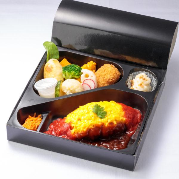 彩り野菜とオムライス